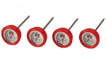 Bull Reusable Red Steak Button Thermometer
