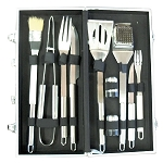 SunStone 10 Piece BBQ Tool Set w/Carry Case
